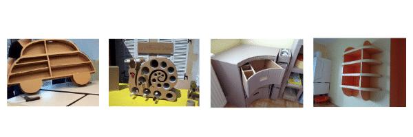 Meuble en carton technique