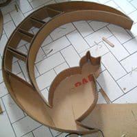 Diy petit meuble en carton en forme de chat