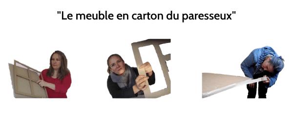 """Formation """" Le meuble en carton du paresseux"""""""