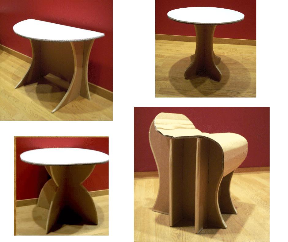 Des sièges et tables en carton à télécharger