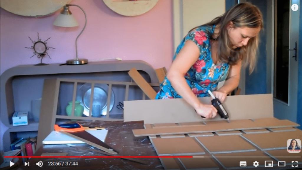 meuble en carton fabrication